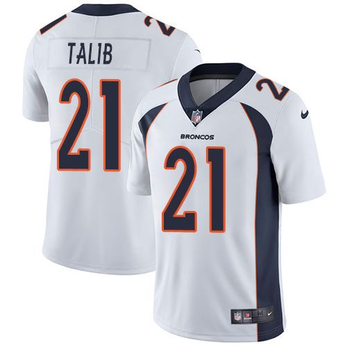 ... jersey Nike Broncos  21 Aqib Talib White Men s Stitched NFL Vapor  Untouchable Limited Jersey Ravens Eric Weddle 32 jersey Jaguars Jalen  Ramsey 20 jersey a15ab0c1c