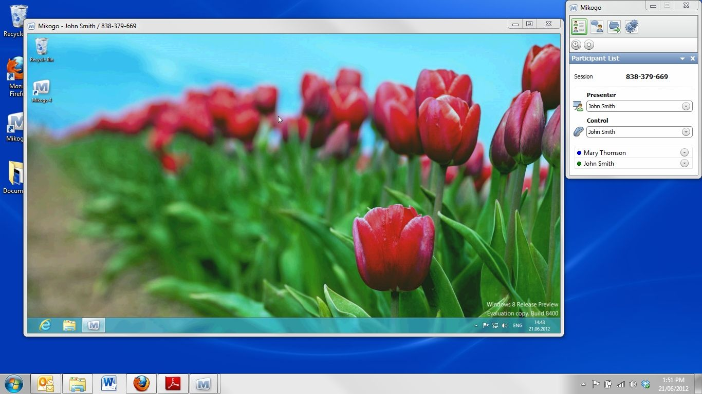 This Is Again An Online Meeting Between A Windows 7 Computer And A Windows 8 Computer But This Is Now The Reverse Flowers Photography Windows 8 Wallpaper App