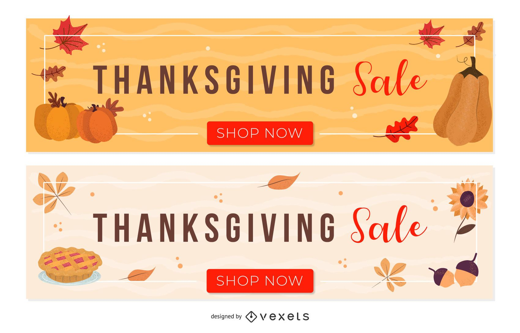 Thanksgiving Sale Set In 2020 Thanksgiving Sale Holiday Banner Banner Template