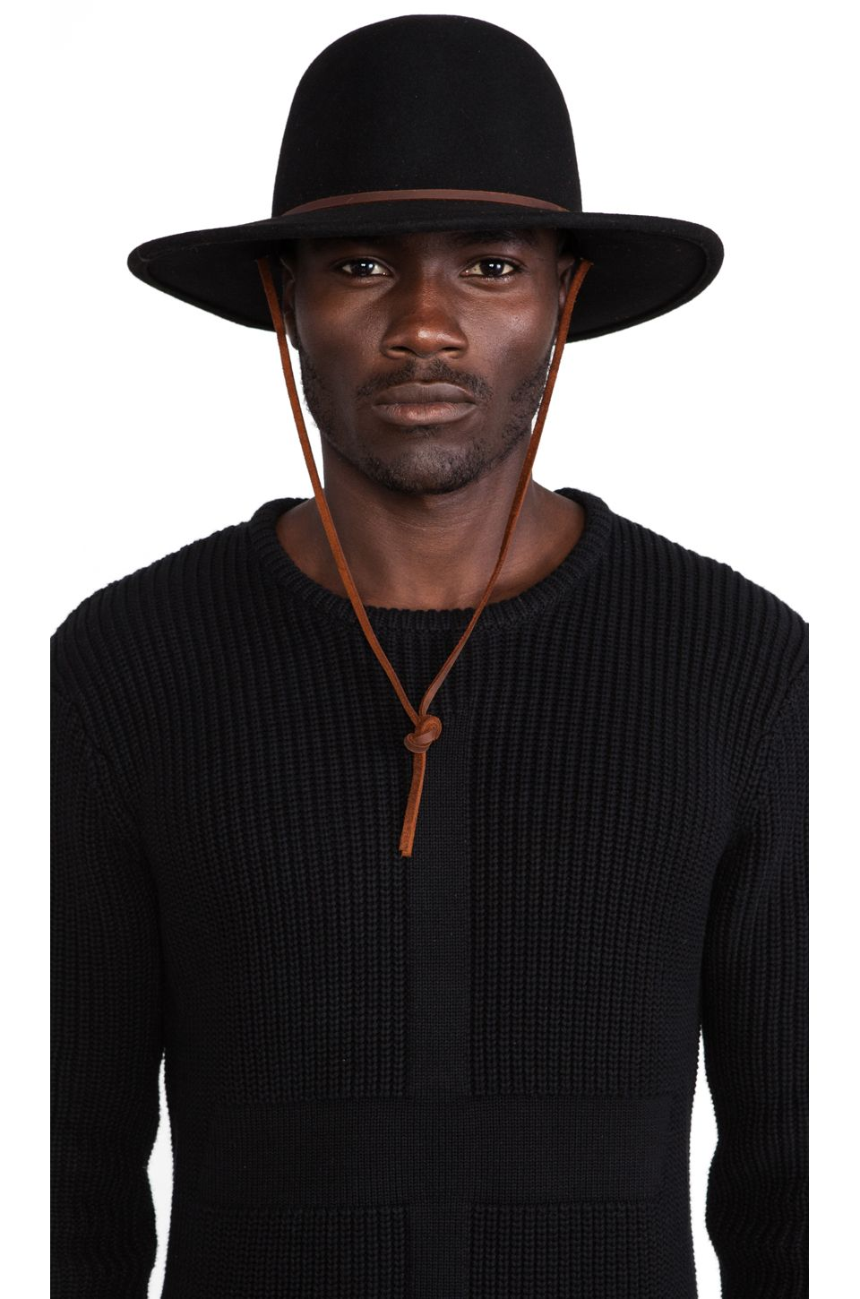 b356955861758 Brixton Tiller Wide Brim Hat in Black