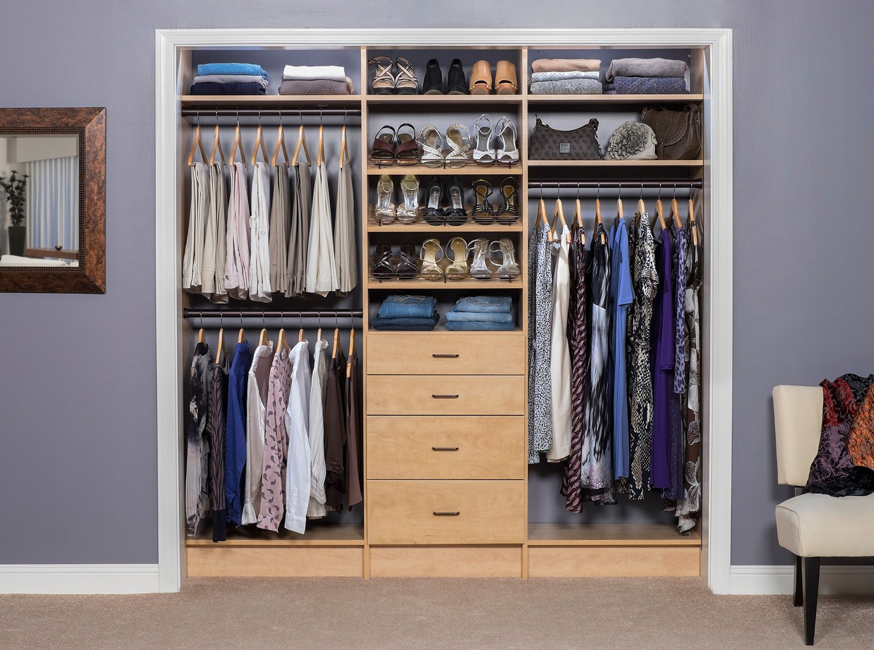 Designing and organizing custom closets closet systems into a beautiful and functional space request a free in home garage design estimate