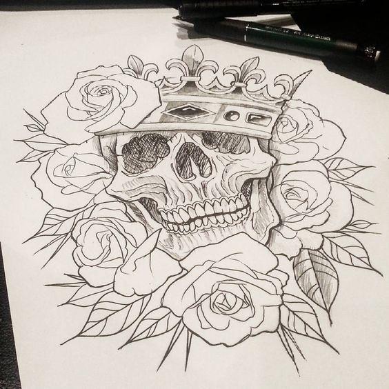 Imagenes De Calaveras Para Dibujar A Lapiz Calaveritas Tatuajes