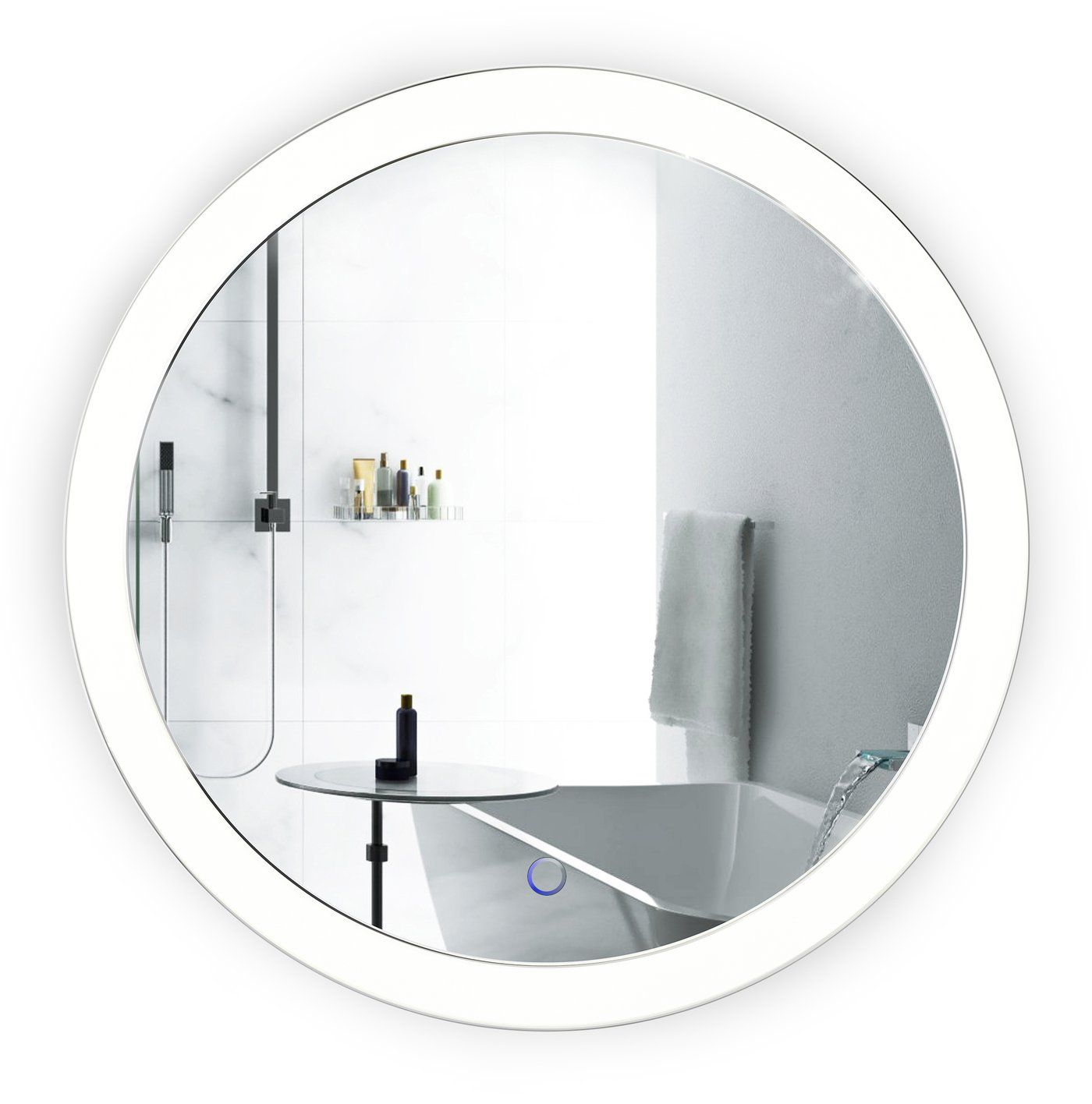 Round Bathroom Vanity Mirror With Lights Sol Valientlux Round Mirror Bathroom Lighted