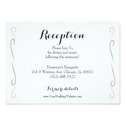 Minimalist vintage rose wedding reception card stopboris Gallery