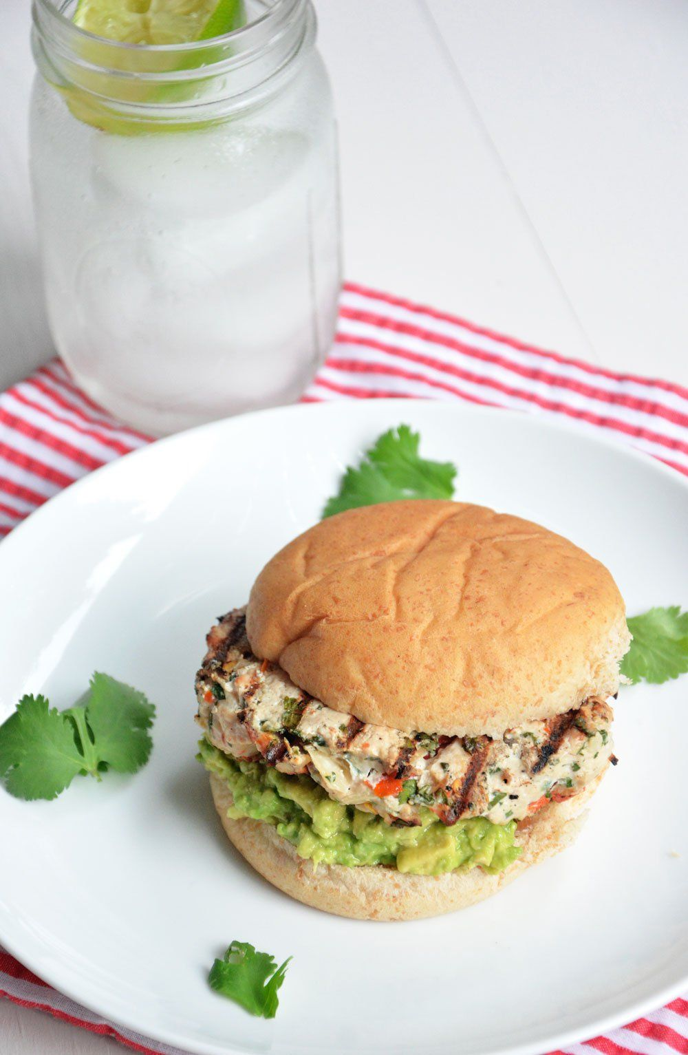 Avocado And Chile Lime Chicken Burgers Recipe Chile Lime