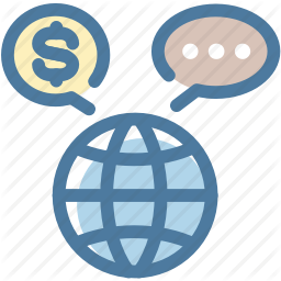 Currency Dollar Exchange International Message Bubble Trade World Icon World Icon Business Finance Business