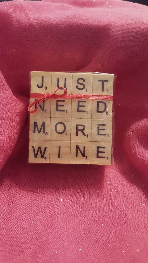 Set of 4 Scrabble Word Coasters Scrabble letter crafts