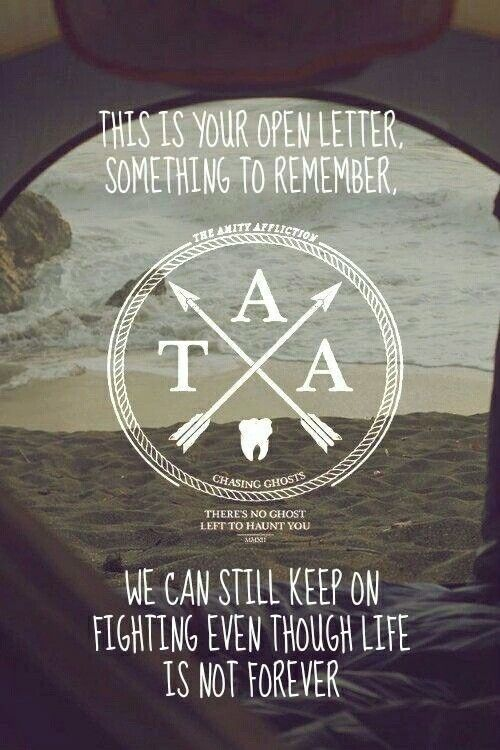 The Amity Affliction Open Letter
