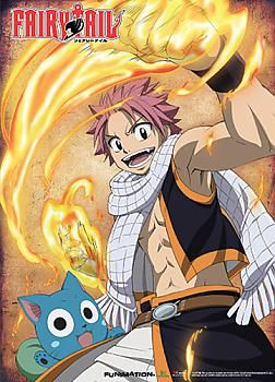 Natsu /& Happy Wall Scroll by GE Animation *NEW* Fairy Tail