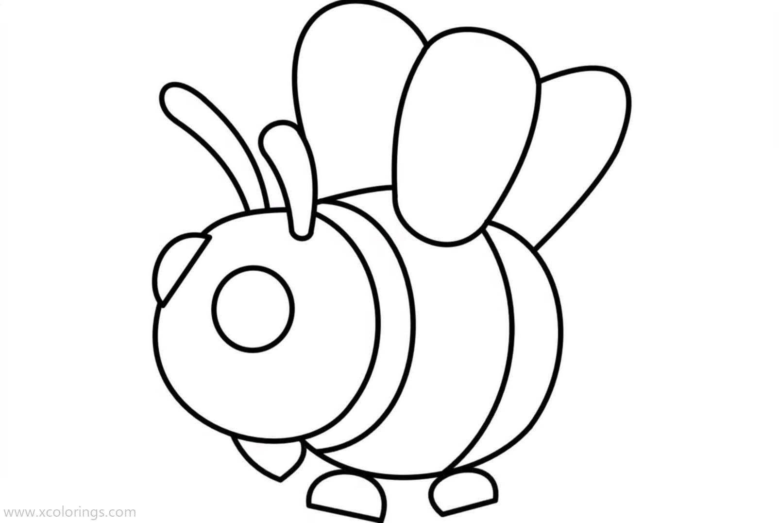 Roblox Adopt Me Coloring Pages Bee Pets Drawing Coloring Pages Bee Coloring Pages
