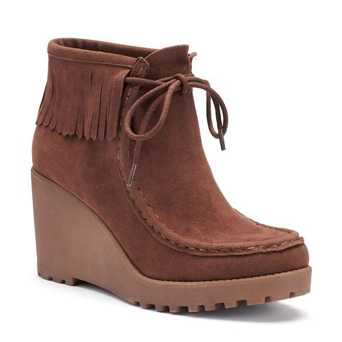 eb9aa378597 Unleashed by Rocket Dog Sissy Women s Wedge Moccasin Boots
