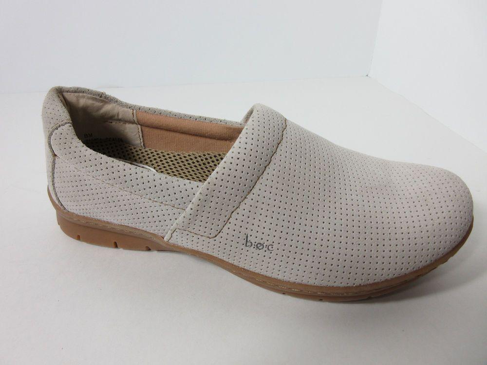 4e1e7fbd7c9 B.O.C. Born Eleonor Womens White Perforated Mesh Leather Clogs Shoes Sizes  8 M  BOC  Clogs  Casual