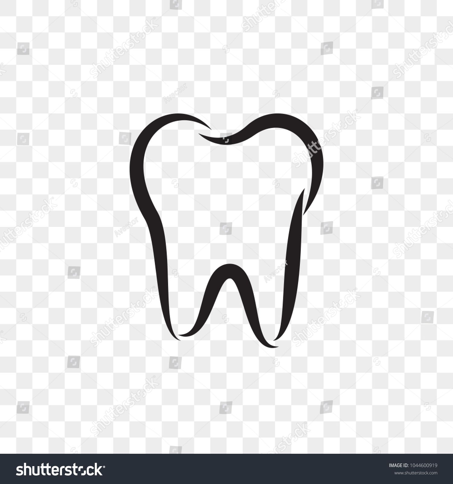 Tooth Logo Icon For Dentist Or Stomatology Dental Care Design Template Vector Isolated Black Outline Line Tooth Symbol Teeth Logo Tooth Outline Tooth Template