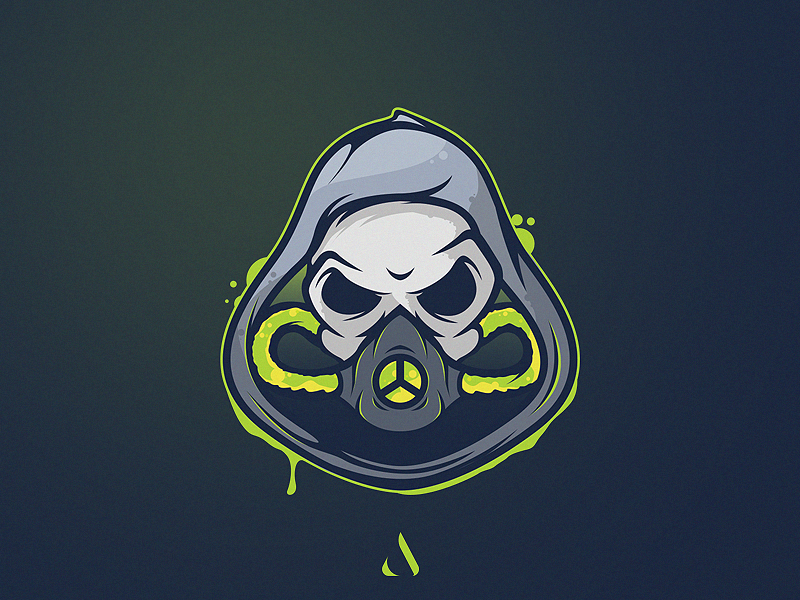 Gas mask Mascot in 2020 Art logo, Game logo design