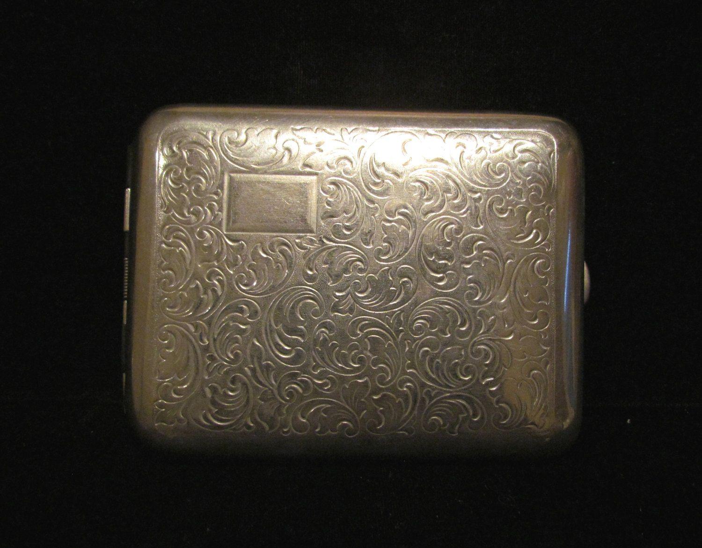 1930\'s Cigarette Case Vintage Cigarette Case 100\'s & King Sized ...