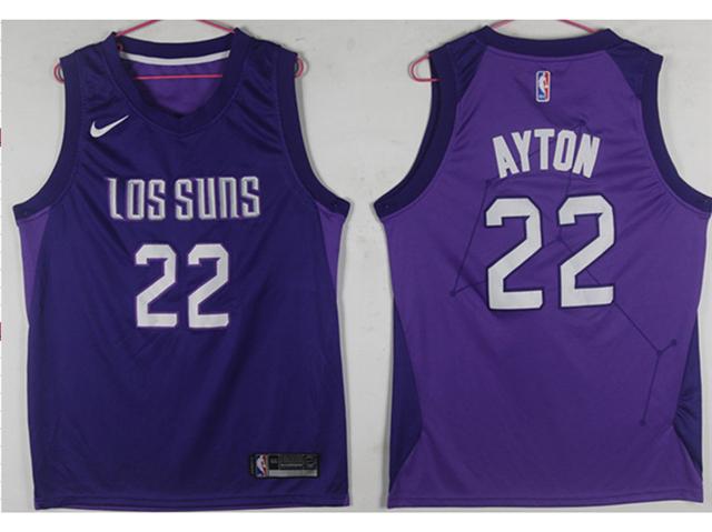 separation shoes c8811 08630 Phoenix Suns #22 Deandre Ayton Purple City Edition Swingman ...