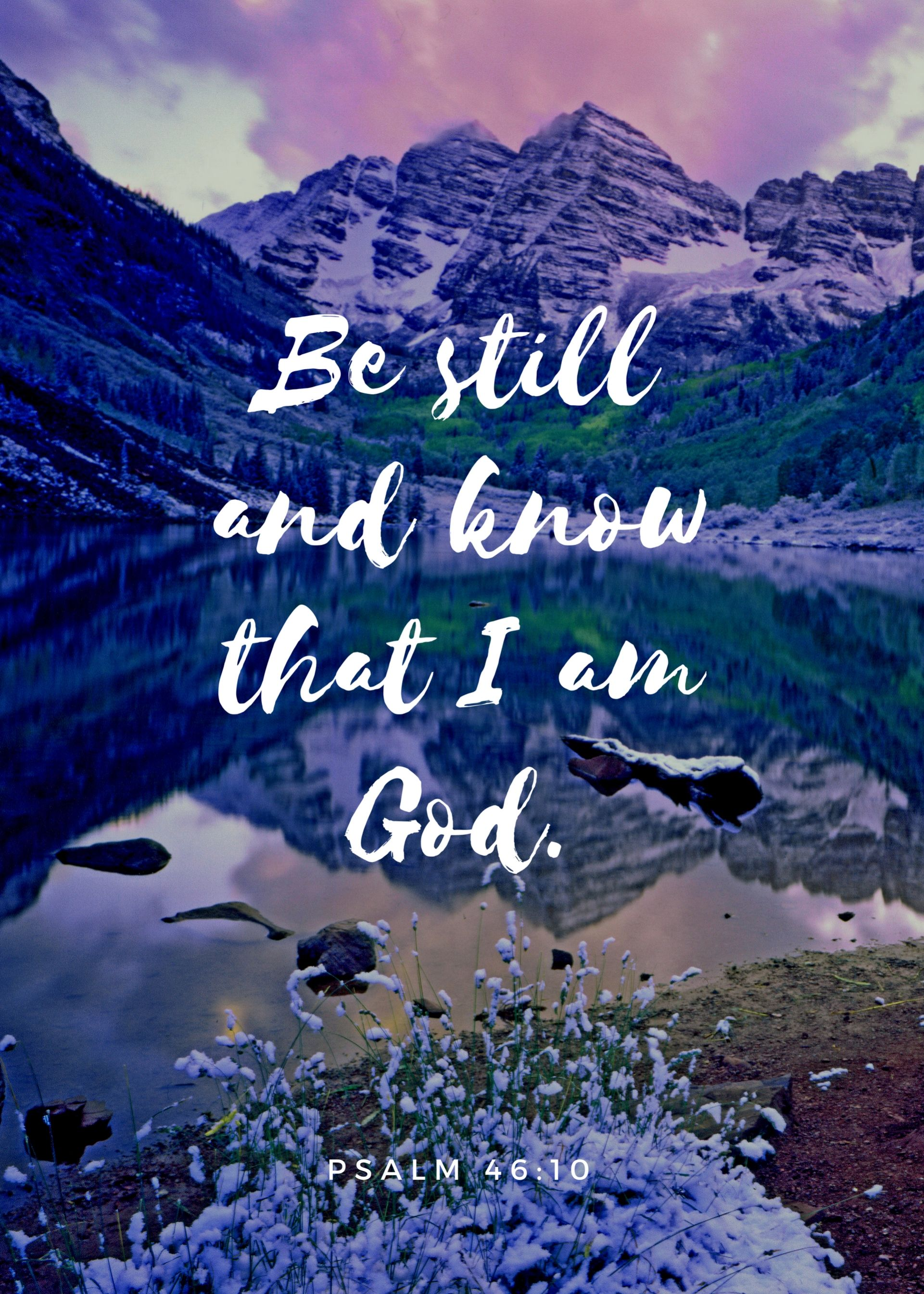 """""""Be still and know that I am God"""" Print - Unframed 