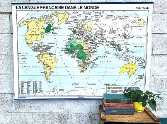 World map large vintage wall map french school map political world map large vintage wall map french school map political geographical map gumiabroncs Gallery