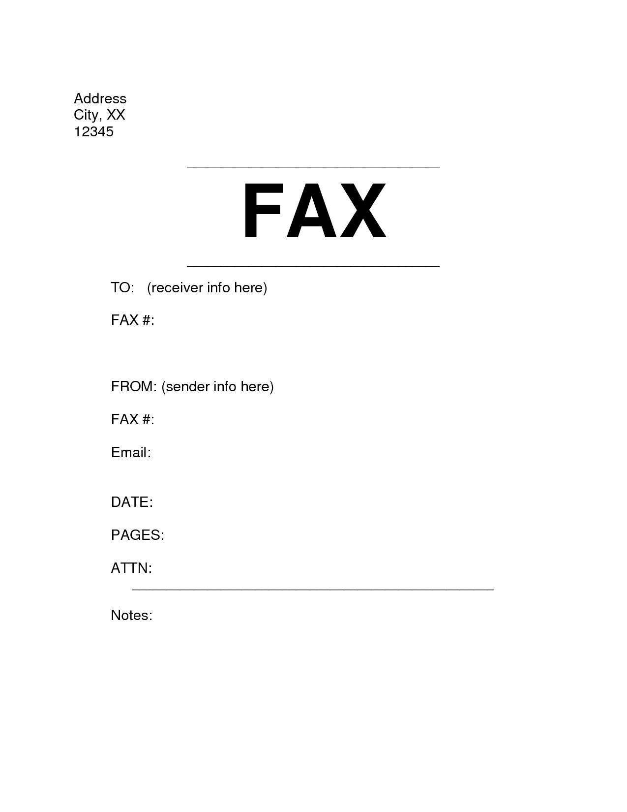 Simple Fax Cover Sheet Home Decor In 2018 Pinterest Resume