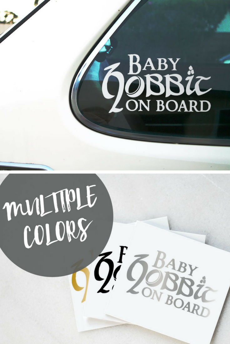 Baby Hobbit On Board Lord Of The Rings And Hobbit Car Decal Sticker Suitable For Outdoor And Indoor Use Sticke Custom Vinyl Stickers Baby Stickers The Hobbit [ 1102 x 735 Pixel ]