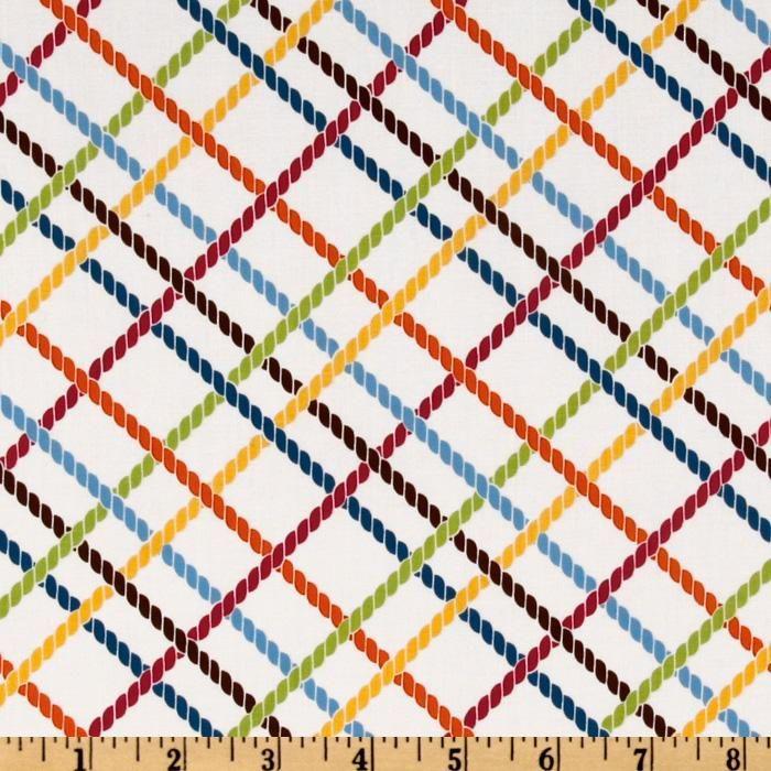 Stitch Organic Diagonal Criss Cross Garden White $9.98/yard