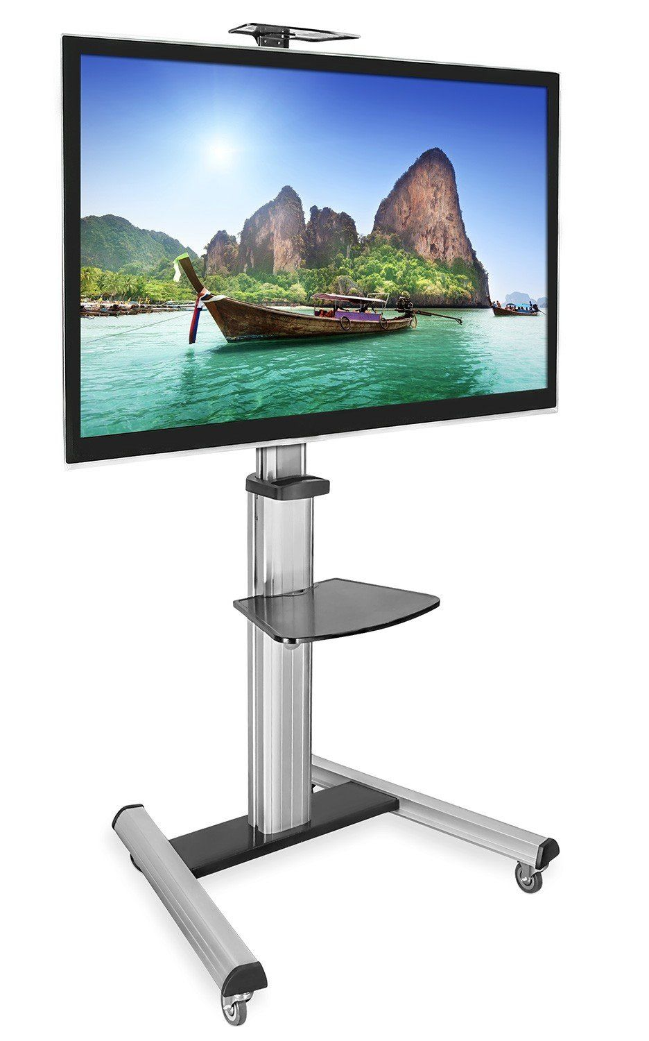 Tv Cart Mobile Height Adjustable Floor Stand Mount 30 70 Lcd Plasma Led Flat Screen Tv Stand Tv Cart Tv Stand With Mount