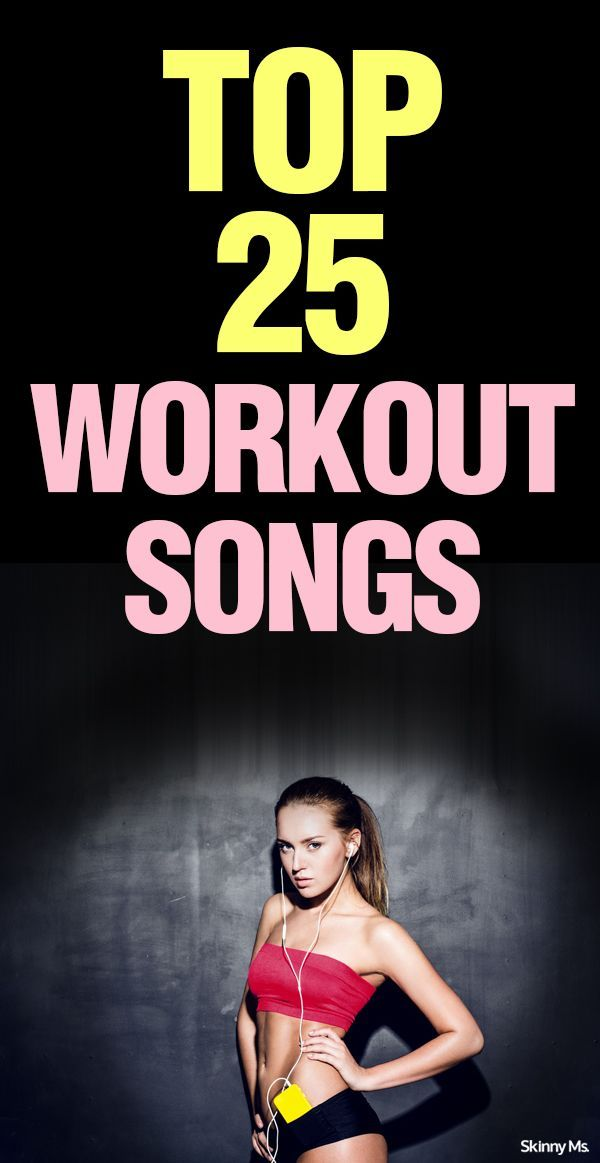 These Top 25 Workout Songs will help you crush your next workout. #Fitness #workout #playlists