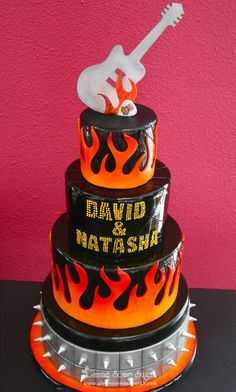 3 TIER FLAME CAKE - Google Search