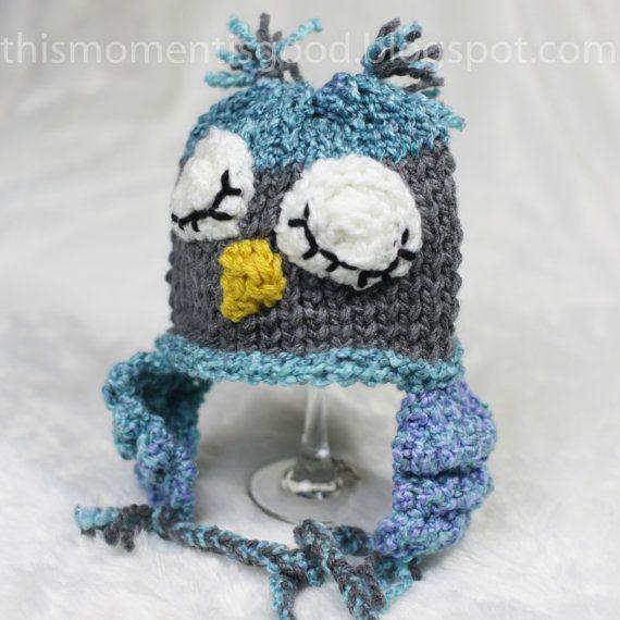 Loom Knit Owl Hat Pattern Loom Knit Character Hat Pattern