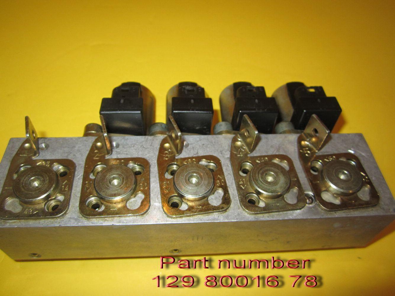 Mercedes R129 early SL soft top hydraulic fluid valves,129