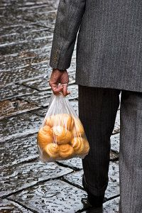 Man with Croissants, Florence