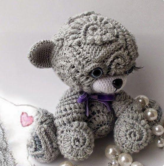 Irina: Cute freeform crochet Teddy. Lesson. | crochet | Pinterest ...