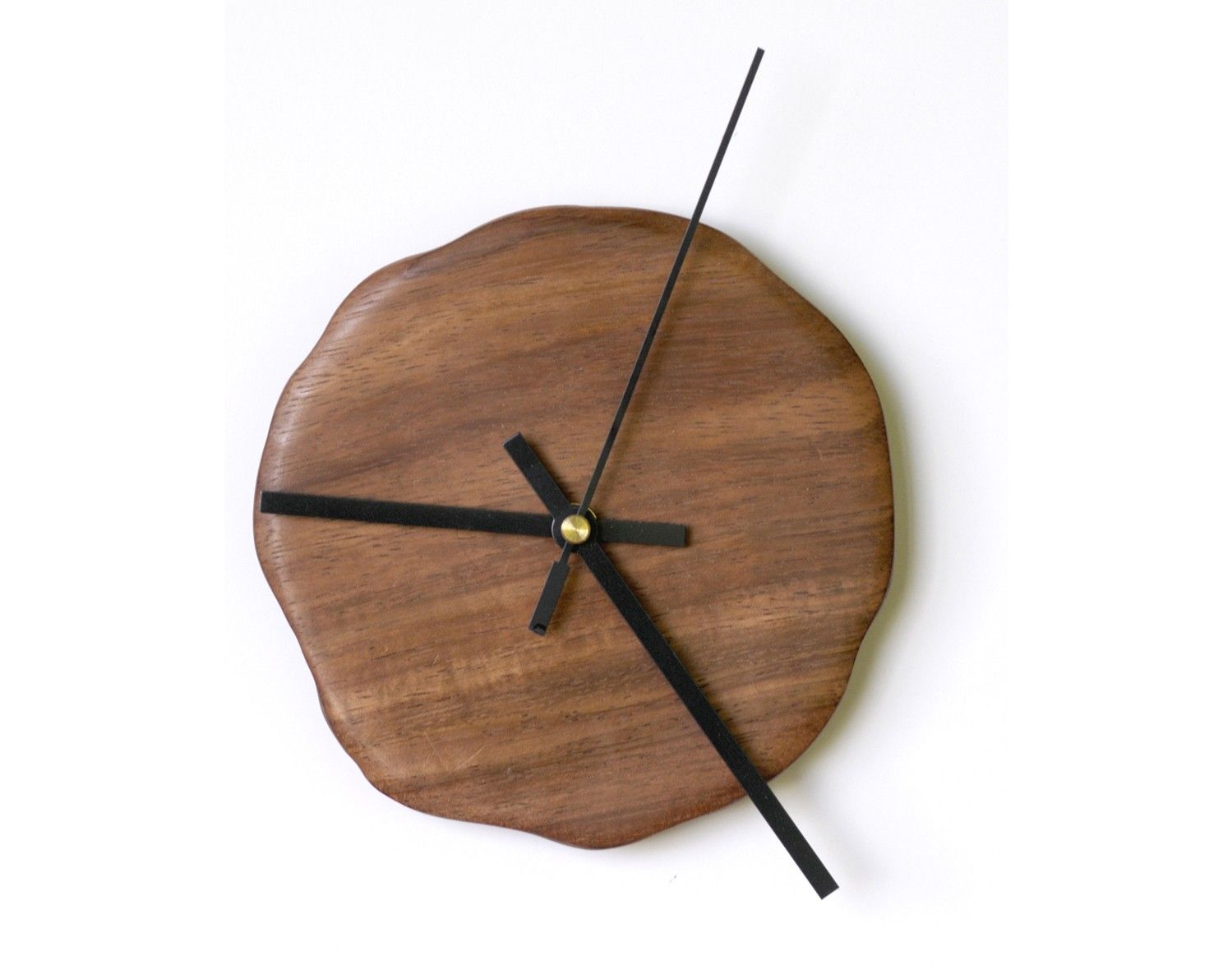 Monkey Pod Wood Big Hands Wall Clock Monkey Pod Wood Wooden Clock