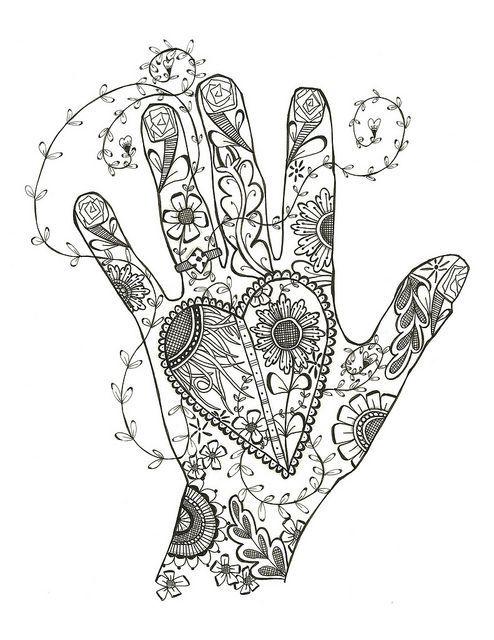 ღღ Heart And Hand by Ruth Davis, via Flickr