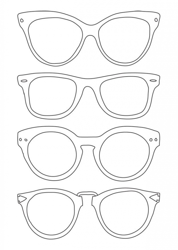 Sunglasses Template Art For Kids Coloring Pages Back To School Night