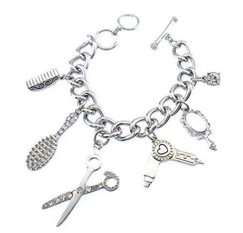 Cool Beauty Hair Salon Beautician Stylist Charm Toggle Bracelet