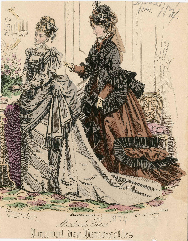 Journal des Demoiselles 1874 | 1874s fashion plates | Pinterest ...