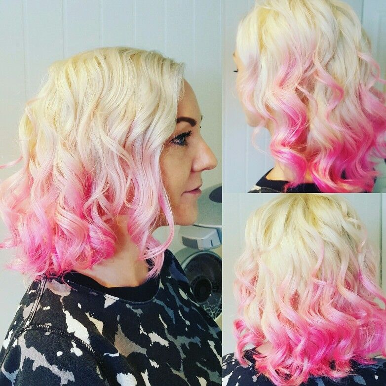 Salong kaktus  Organic colour systems No limits  Pink hair  Omre baylage