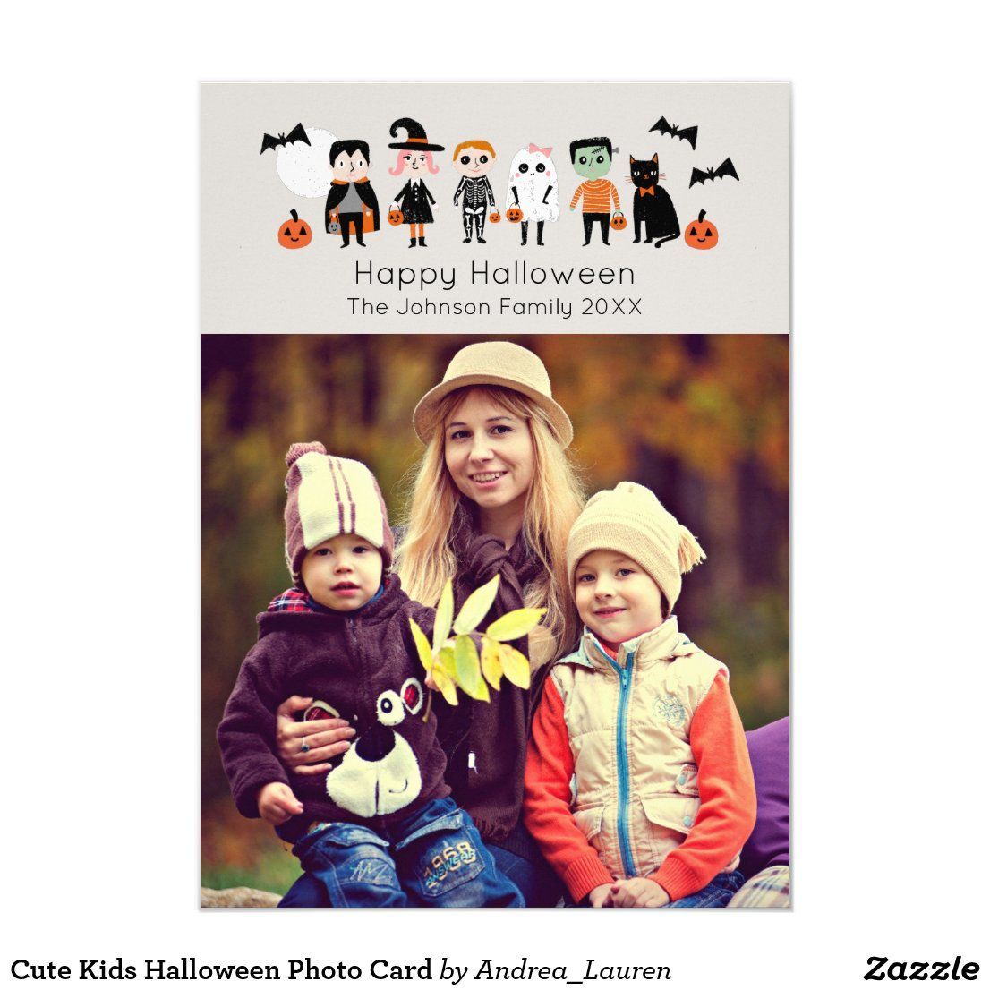 Halloween 2020 Cards For Kids Cute Kids Halloween Photo Card | Zazzle.in 2020 | Halloween