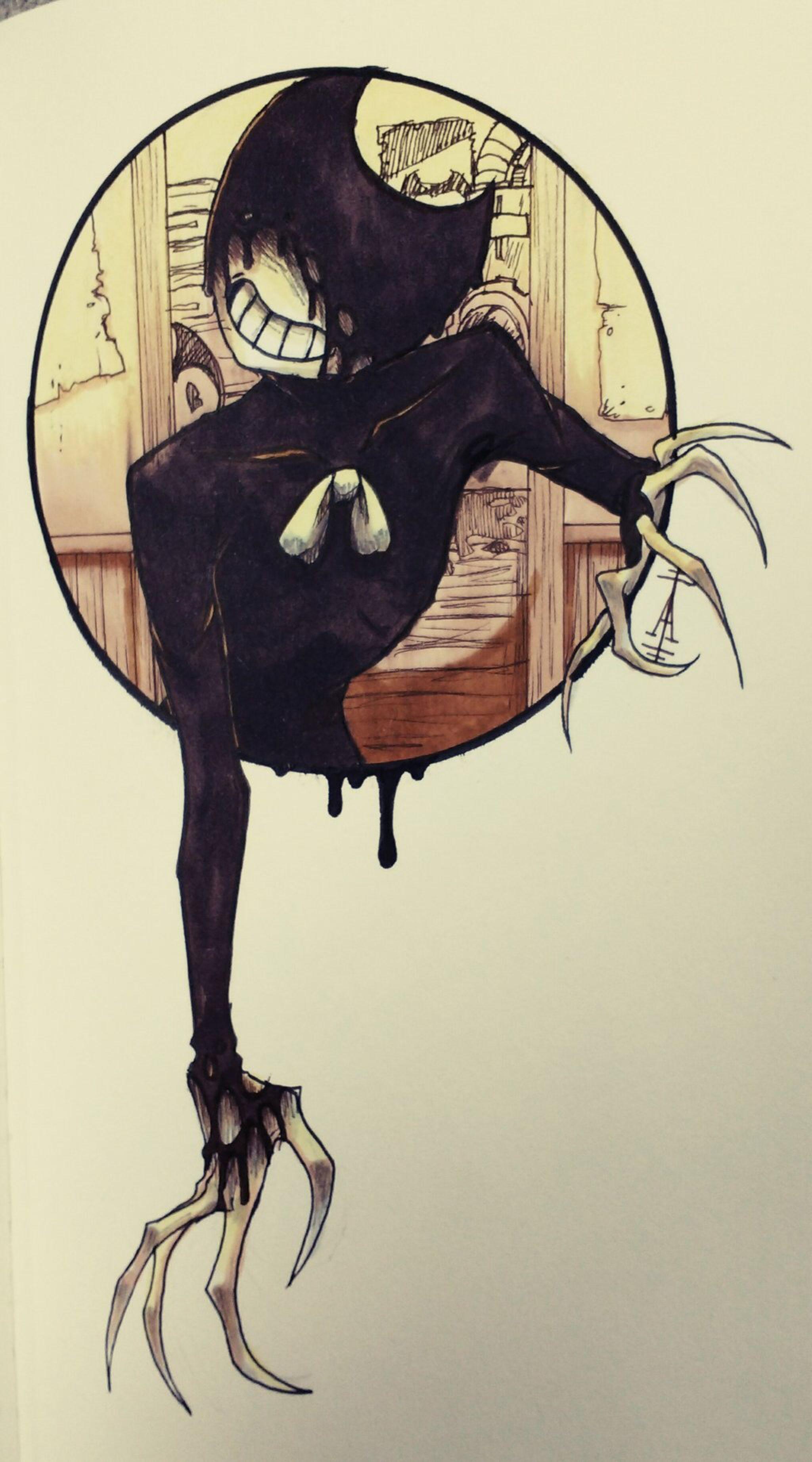 How To Draw Bendy Ink Demon : bendy, demon, Demon, Akiifunen, @DeviantArt, Bendy, Machine,, Drawings