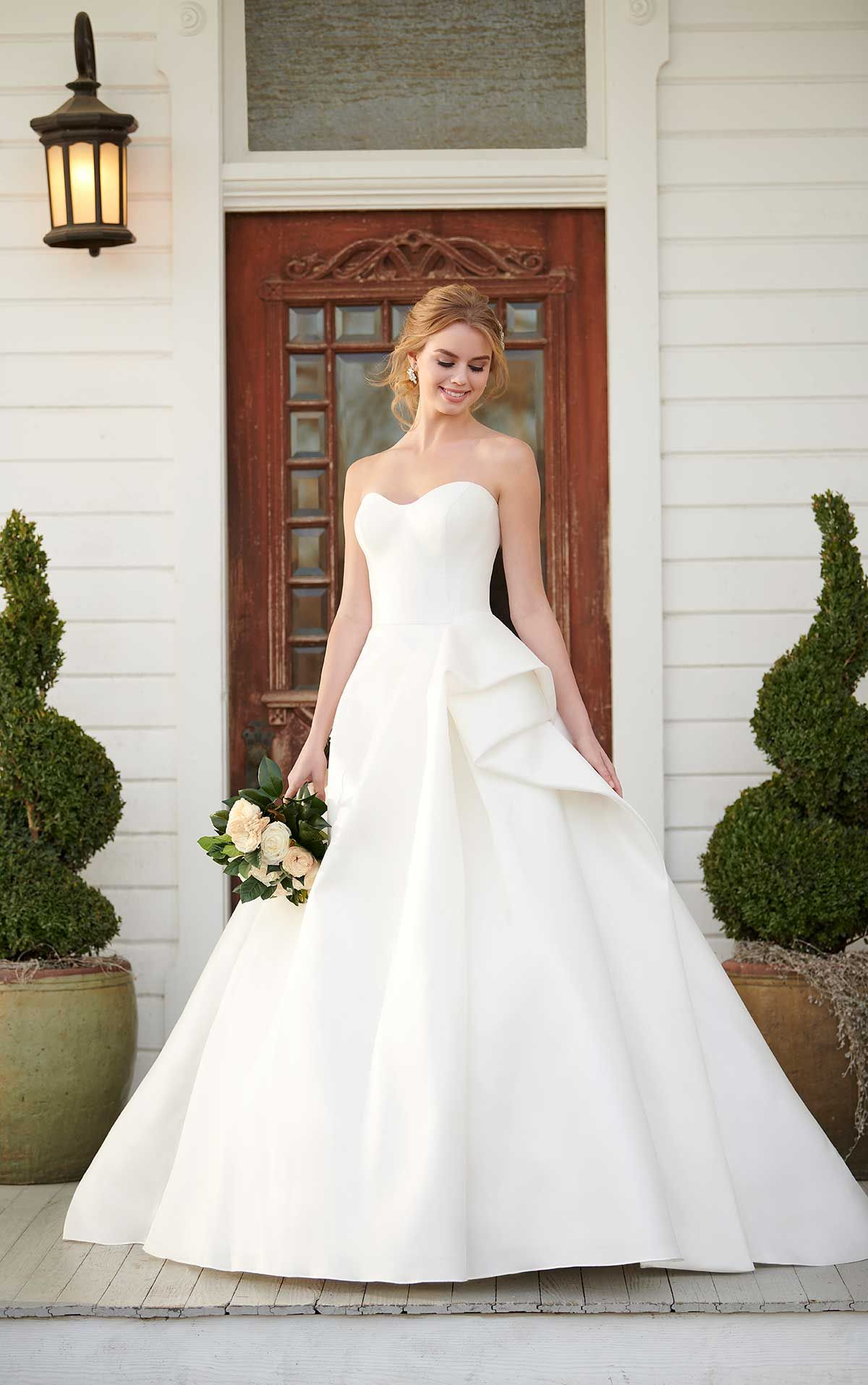 Ruched Silk Ballgown Wedding Dress Wedding Dresses Princess