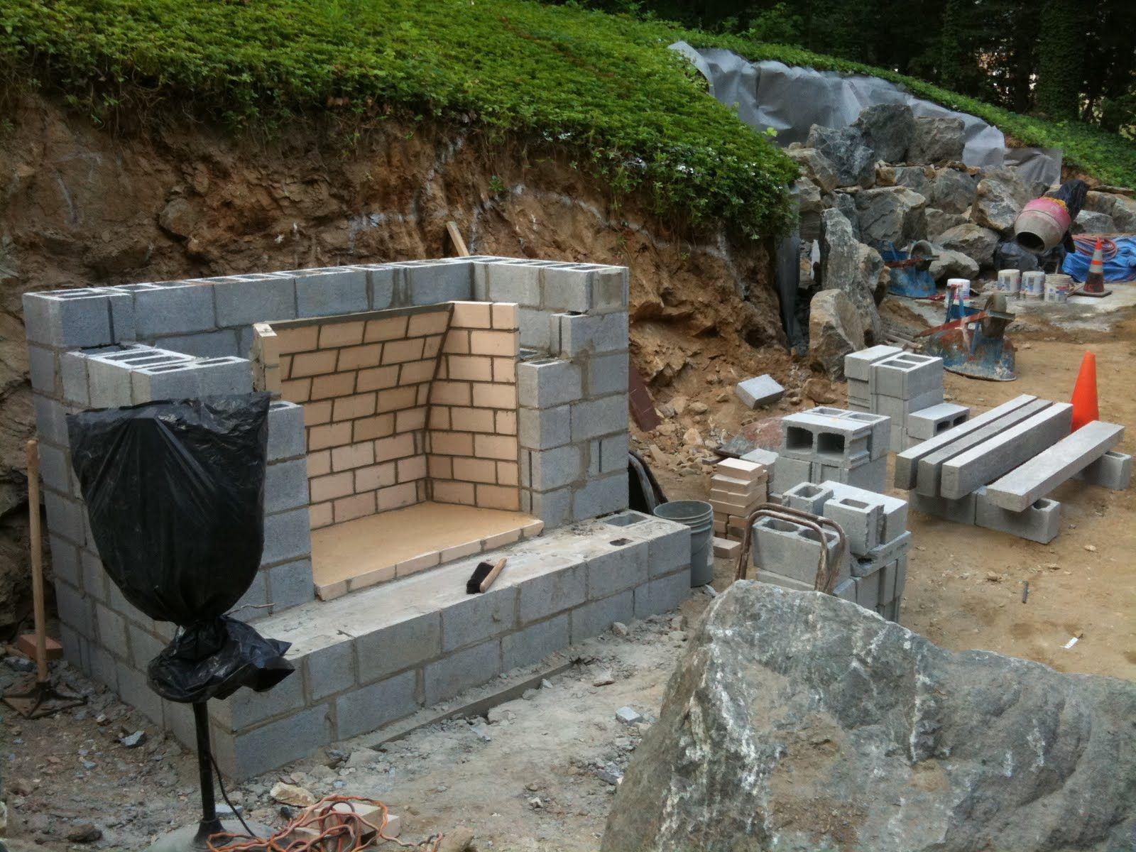 Keenan Construction Excavation Outdoor Fireplace Diy Outdoor Fireplace Outdoor Fireplace Plans Backyard Fireplace
