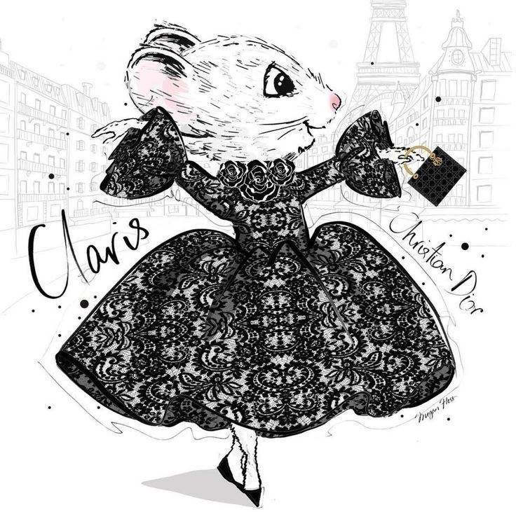 Claris the Chicest Mouse in Paris for Christian Dior by Megan Hess  Art Gallery Megan Hess Claris the Chicest Mouse in Paris for Christian Dior by Megan Hess  Art Gallery...