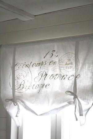 Laskosverho - Provence Beige Teksti