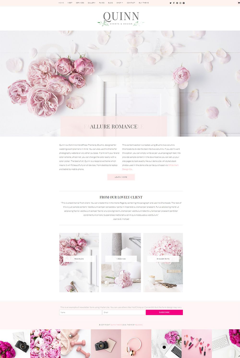 The 10 Best Divi Child Themes Using Feminine Aesthetics Wedding Website Design Feminine Web Design Wordpress Website Design