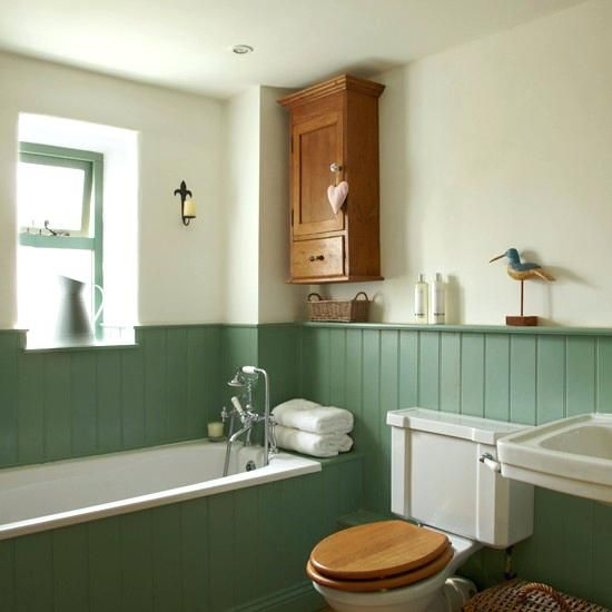 white wood panel bathroom country with tongue and groove