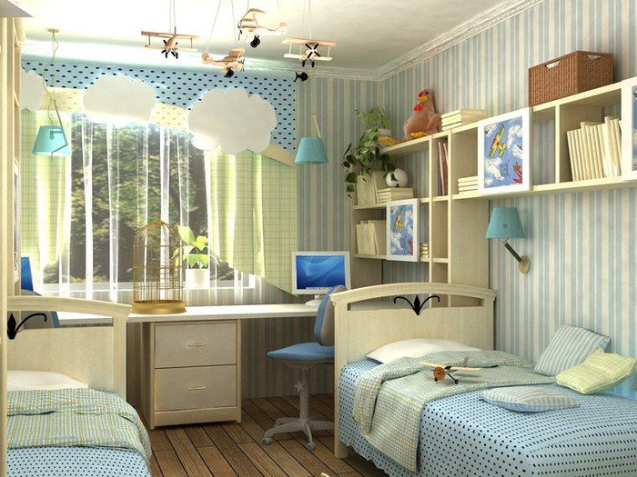 Детская комната 10 кв. м. - уютный и стильный 31