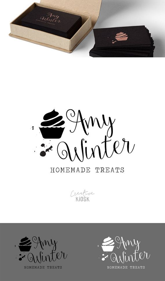 premade bakery business branding cupcake logo food logo instant psd file download