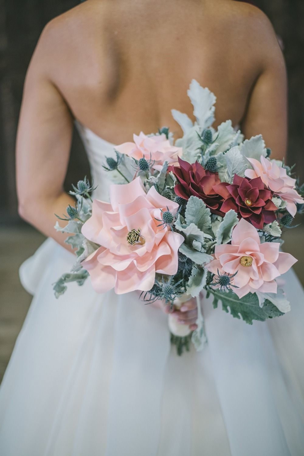 Live flowers not an option check out this paper flower wedding