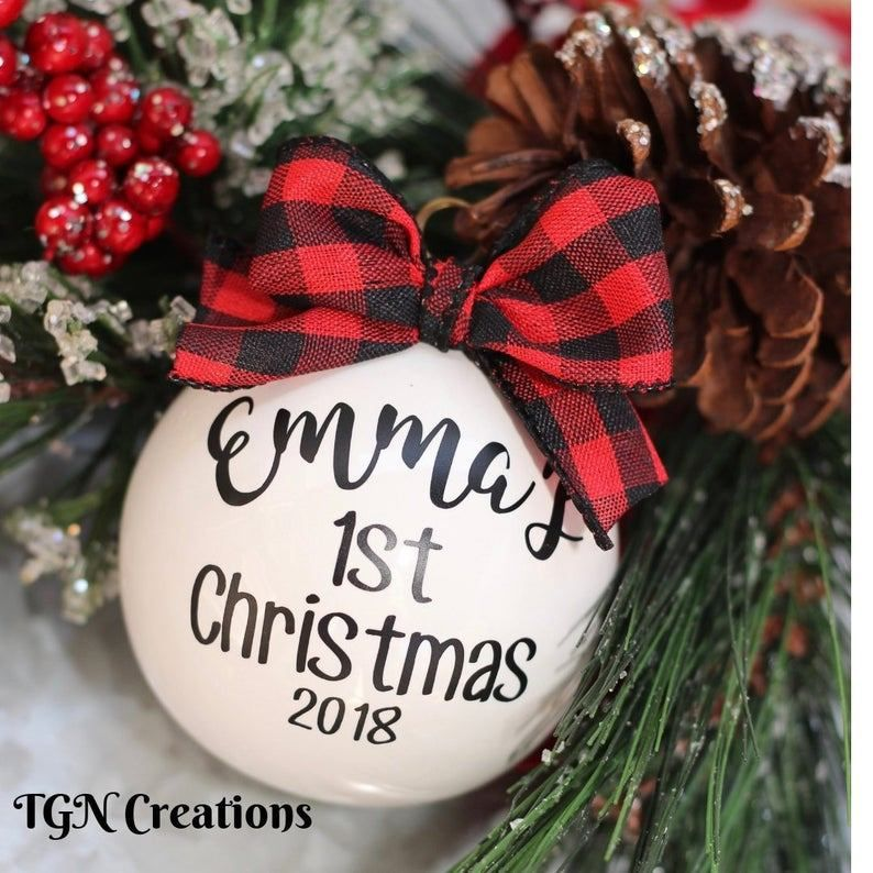 Baby's First Christmas Gift Ideas on Etsy